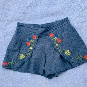 Anthropology Linen Shorts Sz M